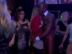 Horny Babes Cannot Wait To Fuck Muscular Strippers