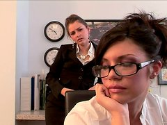 A Rough Threesome In The Office Among Horny Coworkers