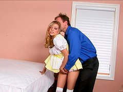 Kinky Nanny Takes A Pounding From Her Boss