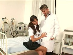 Rough Anal For A Brunette Slut From Her Doctor