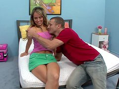 Naughty Teen Is Fucked Silly By A Hard Cock