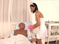 Slutty Nurse Rides A Patient's Big Cock