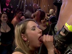 Honry Babes Are Fucked By Strppers In An Orgy