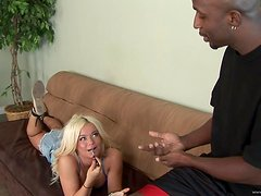 A Big Black Cock Leaves Sexy Blonde Out Of Breath