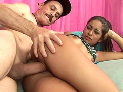 Naughty Teen Takes An Old Man's Big Cock