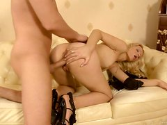 A Thick Long Cock For A Gorgeous Blonde's Pink Pussy