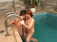 Rough Sex In An Inside Pool With A Kinky Couple