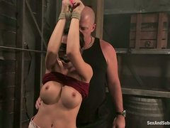 Mindy Main the girl with great tits gets fucked in the face