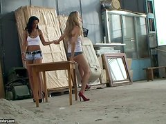 Backstage of Two Wheels, Two Girls showing us what it's like