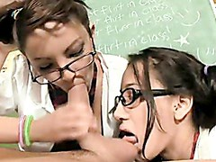 After School Detention Threesome / Amia & Danni