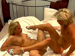 Dominica Dolce and Honey Summern become horny after wedding and start to play