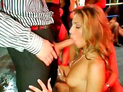 Naughty hoes are fucking furiously in a dirty group sex video