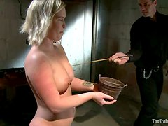 Slender and juicy blond gets chained up and tortured