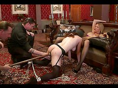 Hot Babes Have Fun With One Another As Their Master Tortures