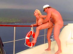 Stormy Daniels sex on a boat