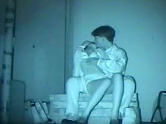 Japanese nightvision couples at it on a bench