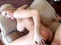 Candy Manson gets a sticky load of cum on her face