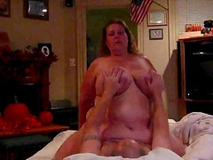 Big tits mom on the top