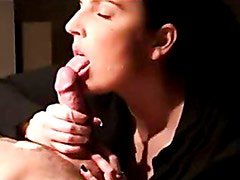 Slow blowjob and licking of cock until he cums