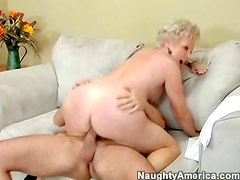 Mature pussy on a young cock