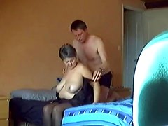 Old BBW Aunt Loves Cock