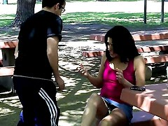 Pervert Creams On Girl at the Park