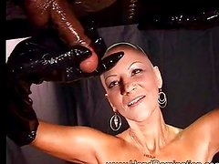 Mistress Laura Milking Black