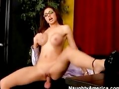Double cumshot in secretary