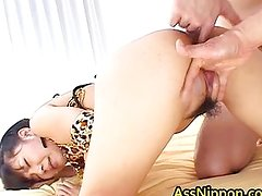 Asian babe manhandled