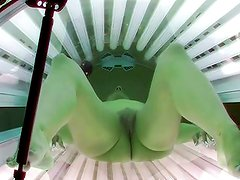 First Hidden Cam in solarium