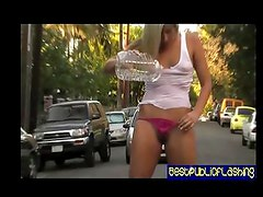Kaycee Brooks flashing on the road