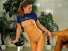 Hot sex on a home trainer