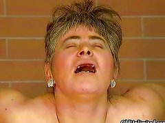 Fat old mature wife without teeth gets