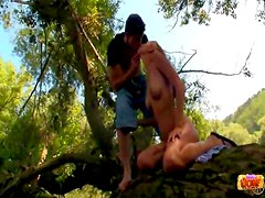 Nice sex in the woods