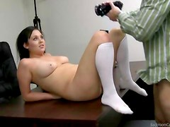 Casting couch girl in costume
