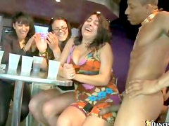 Girls sample cock at party