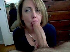 Amateur MILF - BJ, HJ and Swallow