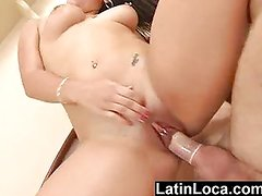 Latin girl with clit piercing fucked