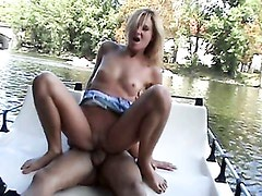 Public sex on a boat with a hottie - Kathy Sweet. Part 3