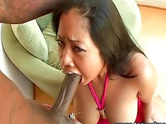 Chubby nice tits Asian interracial
