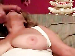 Young Stud Facefucks Busty Older Woman