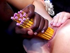 Candy Cotton spectacular cock toy penetration