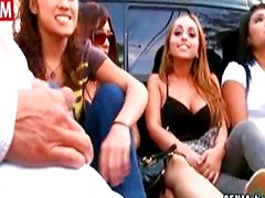 Guy shows off his dick to girls