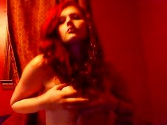 Pajas Manuales - 19 year old red head fondles her bresticles