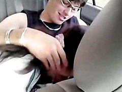 Amateur Latina Cuple In Car