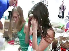 Sleeping College Girls Forced To Strip