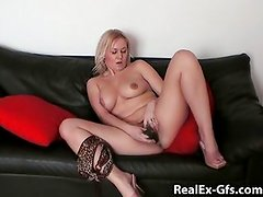 My brother's ex gets nude on the couch