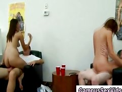 Naked classy college girls at a party