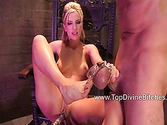 Jason gets heavy flogging while in chastity
