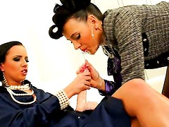 GETTING JIZZ FUCKED FROM ALL SIDES / GINA DEVINE, MEA MELONE